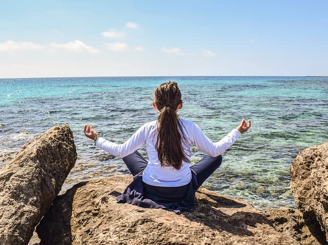 Meditation near water